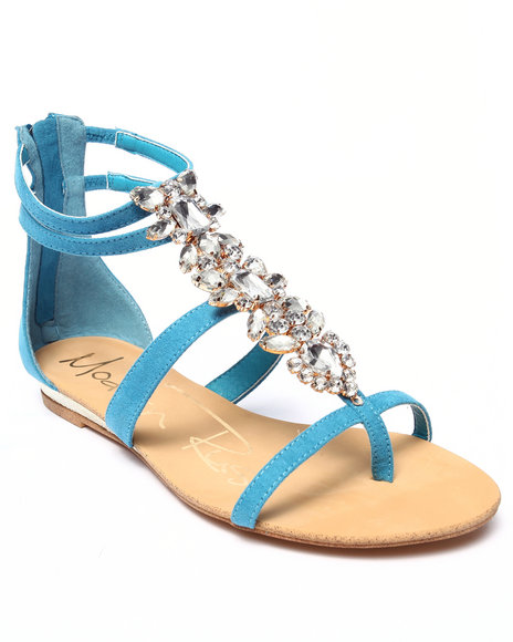 Ur-ID 217888 Fashion Lab - Women Blue Diamond Stone Detail Sandal