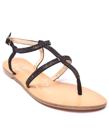 Fashion Lab - Women Black Jannette Sandal - $9.99