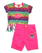 Apple Bottoms - 2 PC FRINGE TOP & BERMUDA SHORTS (2T-4T)