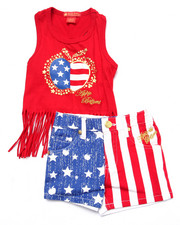Apple Bottoms - 2 PC AMERICANA TANK & SHORTS (2T-4T)