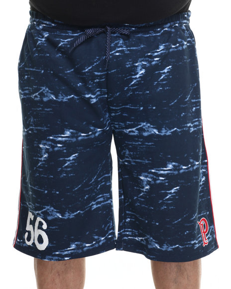 Ur-ID 217891 Parish - Men Navy Printed Sweatshort (B&T)