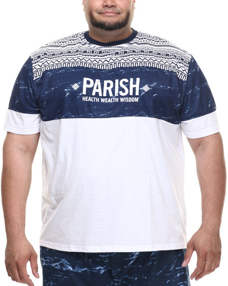 Parish - Men Navy Ethnic Print T-Shirt (B&T)