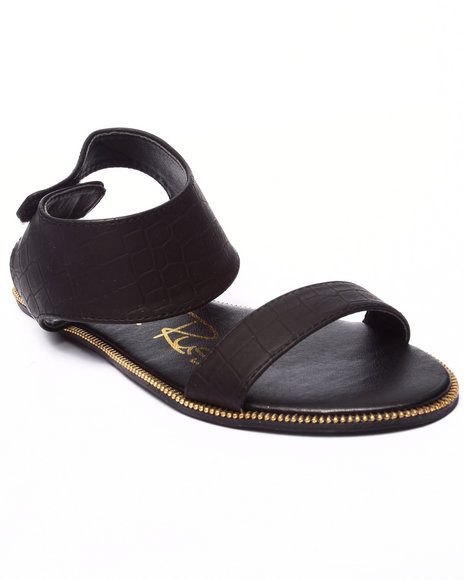Fashion Lab - Women Black Lucky Sandal