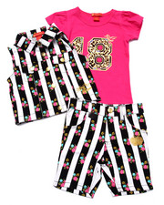 Sizes 4-6x - Kids - 3 PC VEST & BERMUDA SET (4-6X)