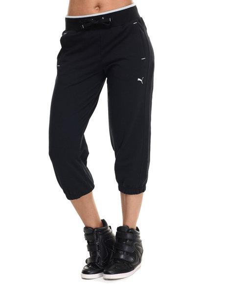 Ur-ID 217940 Puma - Women Black Sweat Capri Pants