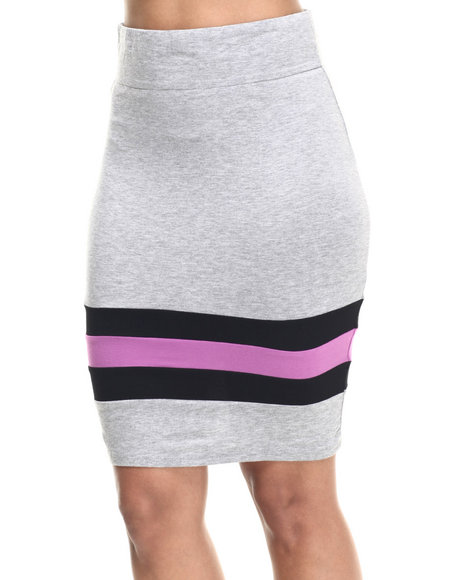 Ur-ID 217956 Lady Enyce - Women Grey Active French Terry Midi Skirt