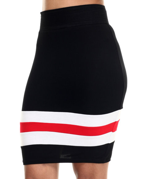 Ur-ID 217964 Lady Enyce - Women Black Active French Terry Midi Skirt