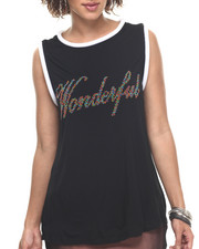 Tops - Embellishment Wonderful Tank