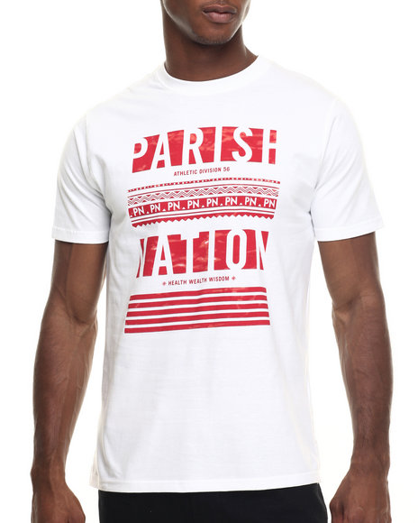 Ur-ID 217900 Parish - Men Red,White Graphic T-Shirt