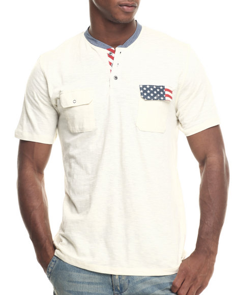 Ur-ID 217903 Buyers Picks - Men Cream Linch Henley S/S Tee