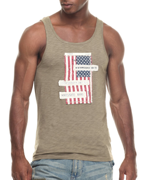 Buyers Picks - Men Olive M16 Tank Top