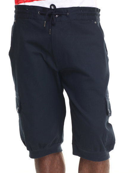 Parish - Men Navy Twill Jogger Short