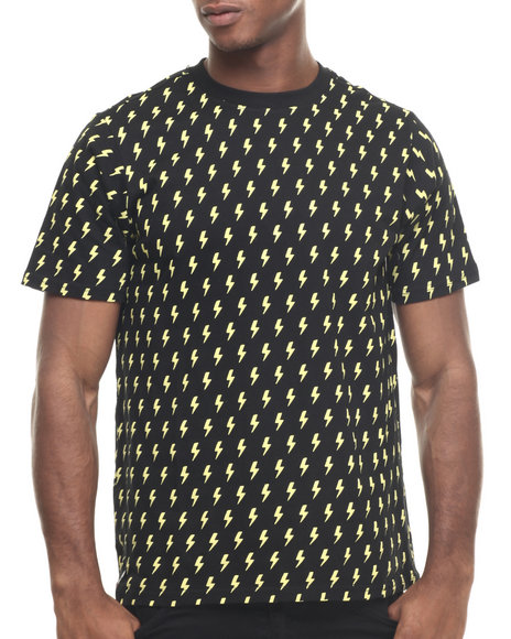 Ur-ID 217909 Enyce - Men Yellow Ramones Allover Print T-Shirt