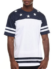 Basic Essentials - Star - Print Tricot Mesh S/S Tee
