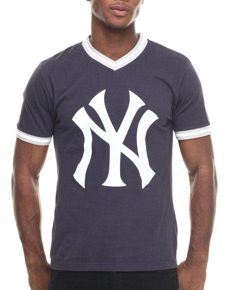 Ur-ID 217996 Wright & Ditson - Men Navy New York Yankees Eephus V-Neck Premium S/S Tee