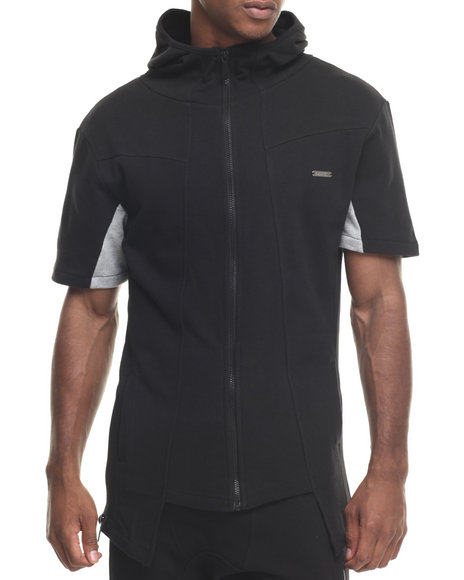 Buyers Picks - Men Black S M A C King Zip - Up S/S Hoodie - $39.99