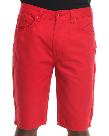 Parish - Men Red Solid Denim Short