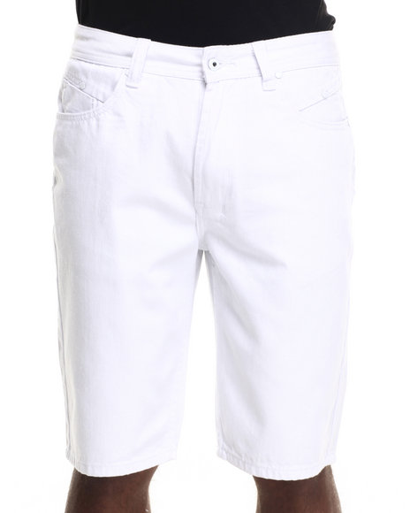 Parish - Men White Solid Denim Short