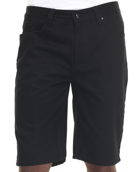 Parish - Men Black Solid Denim Short - $27.99