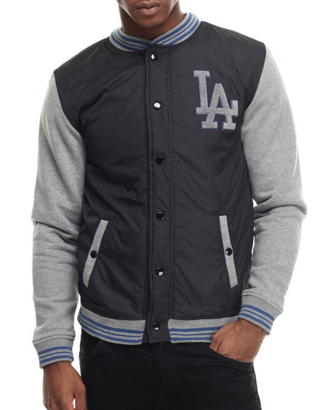 Wright & Ditson - Men Black Los Angeles Dodgers Varsity Jacket