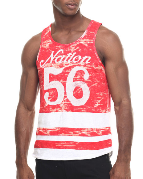 Ur-ID 217986 Parish - Men Red Printed Tank