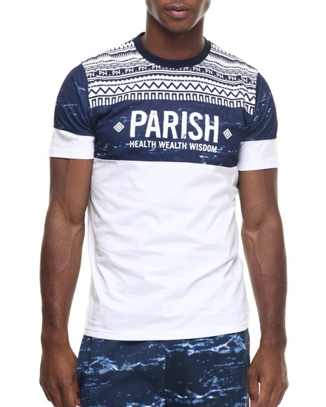 Parish Navy,White T-Shirts