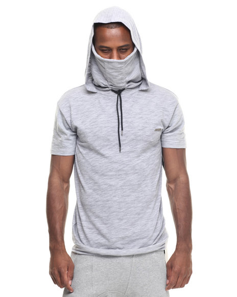 Buyers Picks - Men Grey S M A C King Ninja Hooded S/S Tee