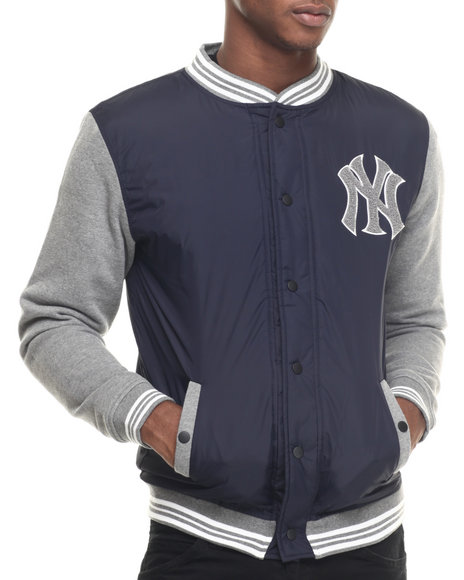 Ur-ID 217997 Wright & Ditson - Men Navy New York Yankees Ember Varsity Jacket