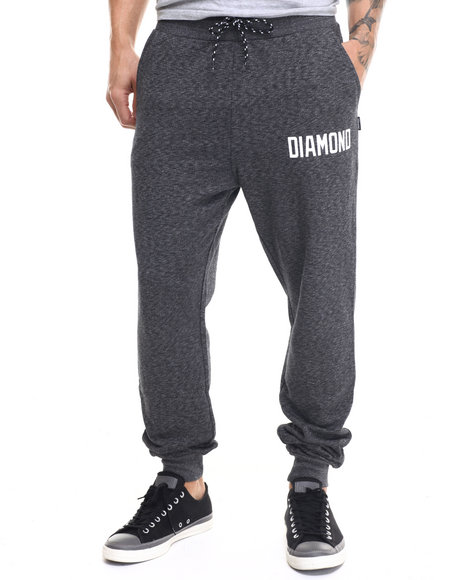 Diamond Supply Co - Men Charcoal Ajaye Slim Sweatpants