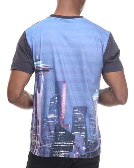 Wright & Ditson - Men Navy Seattle Mariners Metro Sublimation Premium S/S Tee