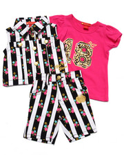Apple Bottoms - 3 PC VEST & BERMUDA SET (2T-4T)