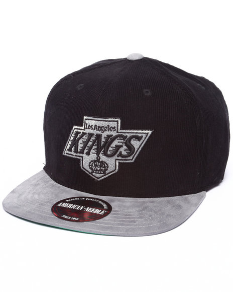 Ur-ID 223205 American Needle - Men Black Los Angeles Kings Chapparel Micro Strapback Hat