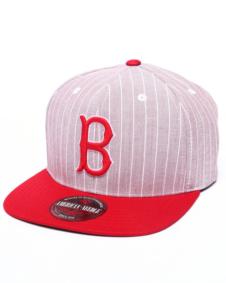 Ur-ID 223206 American Needle - Men Red Boston Red Sox Demo Strapback Hat