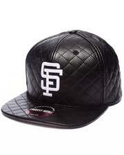 American Needle - San Francisco Giants Faux Quilted Leather Strapback hat