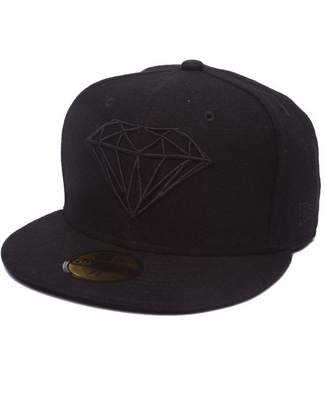 Diamond Supply Co - Men Black Diamond Supply Co Brilliant New Era Fitted Cap
