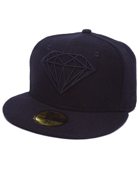 Ur-ID 218021 Diamond Supply Co - Men Navy Diamond Supply Co Brilliant New Era Fitted Cap
