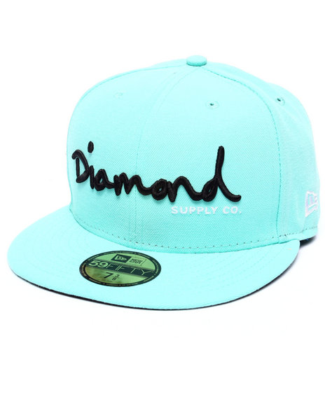 Ur-ID 218024 Diamond Supply Co - Men Teal Diamond Supply Co Og Script New Era Fitted Cap