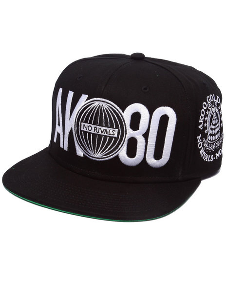 Akoo Men Gold Cup Snapback Cap Black 1SZ