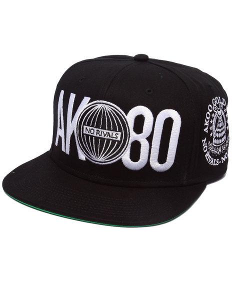 Akoo Men Gold Cup Snapback Cap Black 1SZ