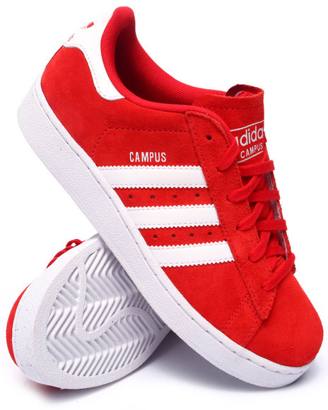 Adidas - Boys Red Campus J Sneakers (3.5-7)