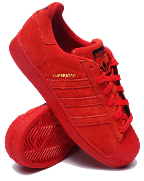 Adidas - Boys Red Superstar Cities Sneakers (3.5-7)
