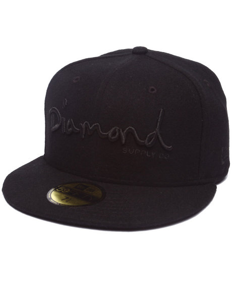 Ur-ID 218026 Diamond Supply Co - Men Black Diamond Supply Co Og Script New Era Fitted Cap
