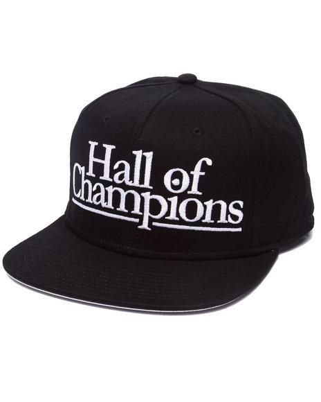 Ur-ID 223230 AKOO - Men Black Hall Of Champions Snapback Cap