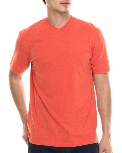 Rocawear - Men Orange Heathered V-Neck Tee