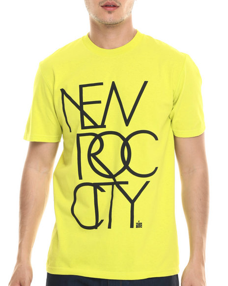 Rocawear - Men Yellow New Roc City Tee