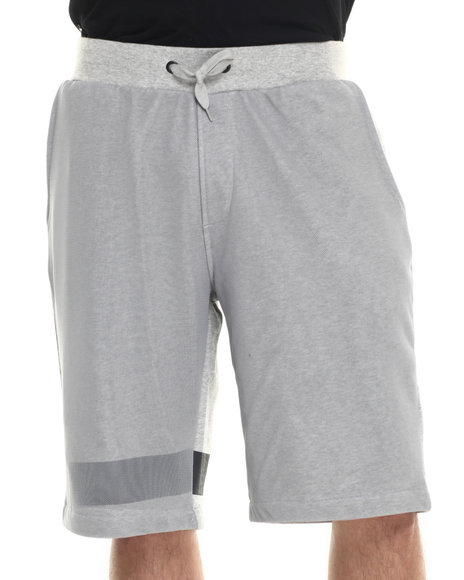 Rocawear - Men Grey Mesh Overlay Shorts