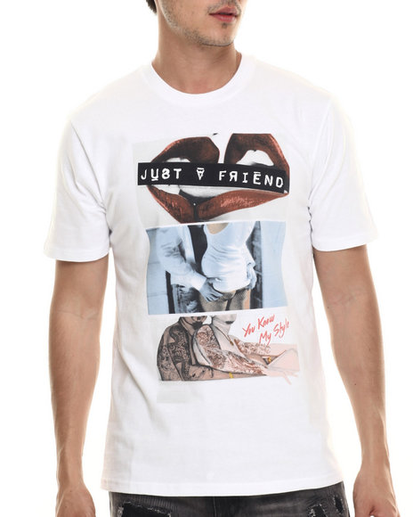 Ur-ID 218046 Rocawear BLAK - Men White Just A Friend Tee