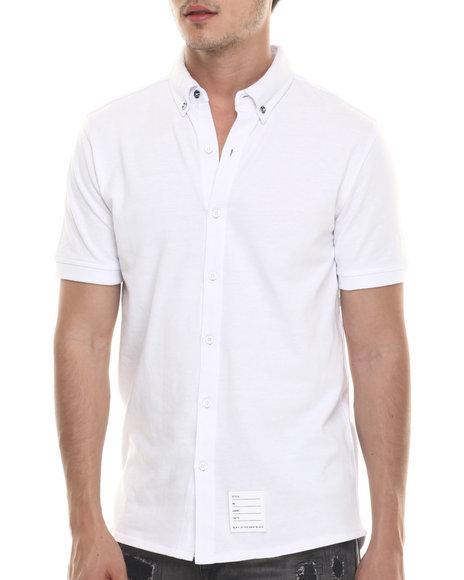 Ur-ID 218110 Rocawear BLAK - Men White Bronson S/S Button-Down