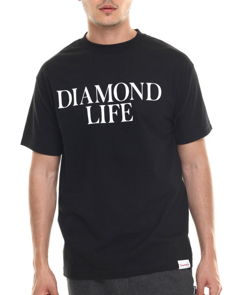 Diamond Supply Co - Men Black Diamond Life Tee