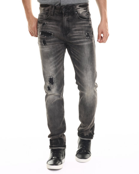 Rocawear Blak - Men Black Bachelor Denim Jeans